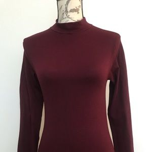 XXI NWOT Ribbed Bodysuit- Wine Color